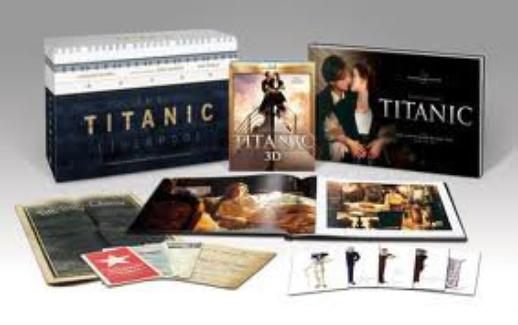 Titanic de James Cameron en Blu-Ray.