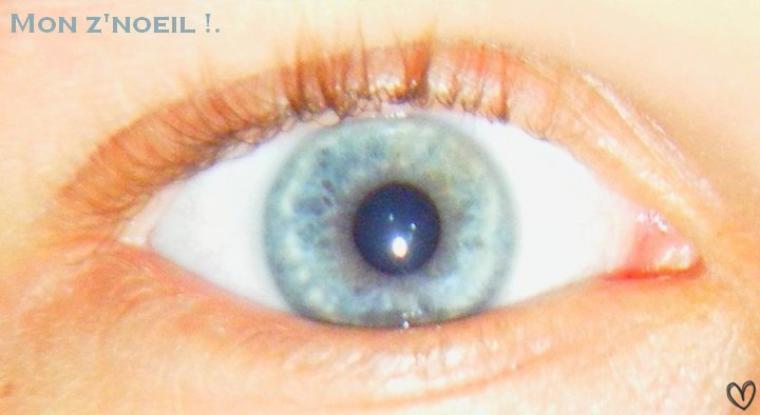 Yeux bleu.