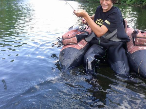 Une Agréable journée de pêche avec Etienne !