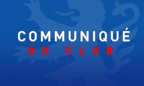 Communiqué du club