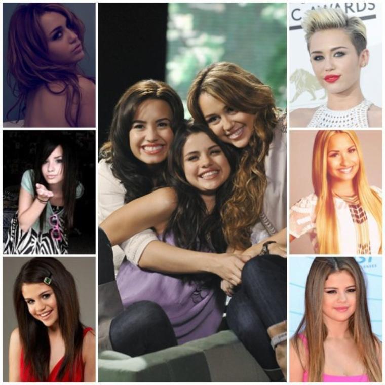 Miley,Demi et Selena
