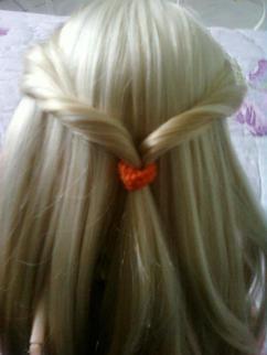 """♥ Tuto coiffure """"couette renversée"""" sur pullip ♥"""