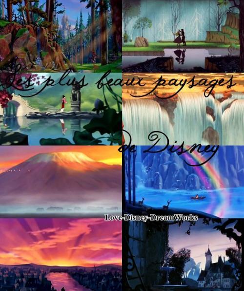 Paysages Disney ♥