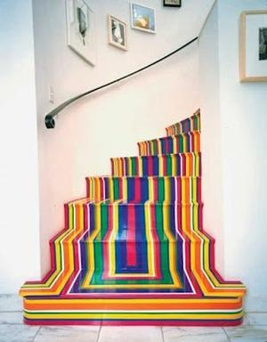 #Escalier multicolore
