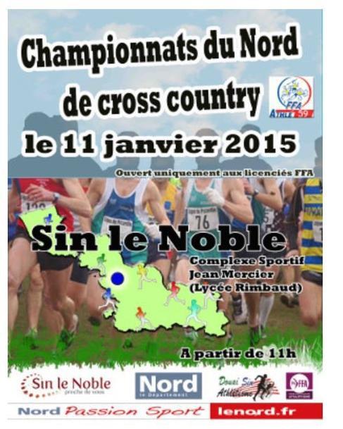 COURSE 01 - LE CHAMPIONNAT DU NORD DE CROSS-COUNTRY - SIN LE NOBLE - 4 KILOMETRES