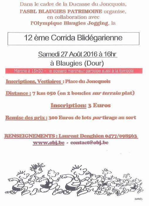 COURSE 12 - LA CORRIDA BLIDEGARIENNE - 7 KILOMETRES - DOUR - BELGIQUE