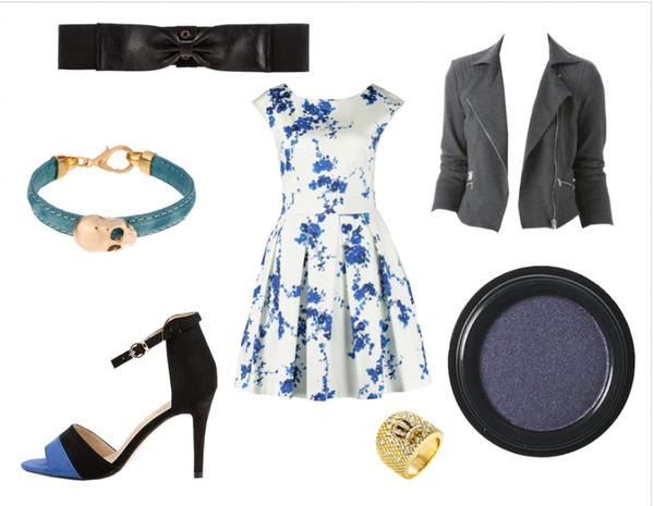 Look 16 : Soirée en bleu