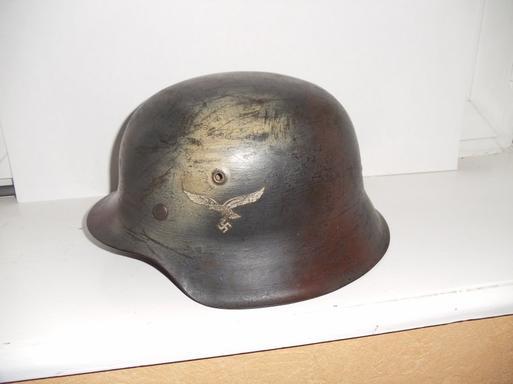 casque Allemand camo Lutfwaffe modéle 42