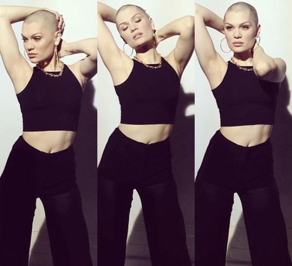 Jessie J dévoile son crâne rasé au Red Nose Day