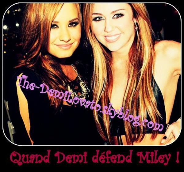 Quand Demi Lovato Défend Miley Cyrus !! ♥