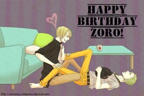 HAPPY BIRTHDAY ZORO!