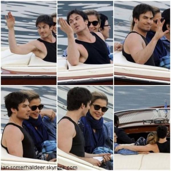 Le 4 juillet Ian fesait une balade en bateau sur le lac Côme, en Italie