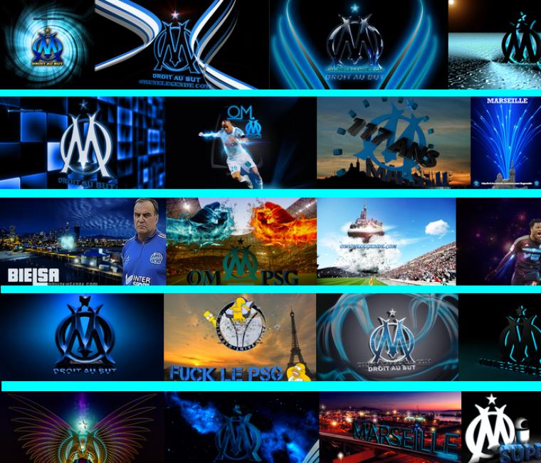 64 logos et fonds d'écrans inédit de l'OM - Olympique Marseille