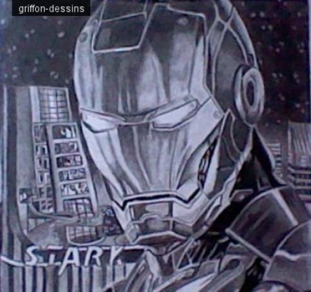 Dessin  iron man