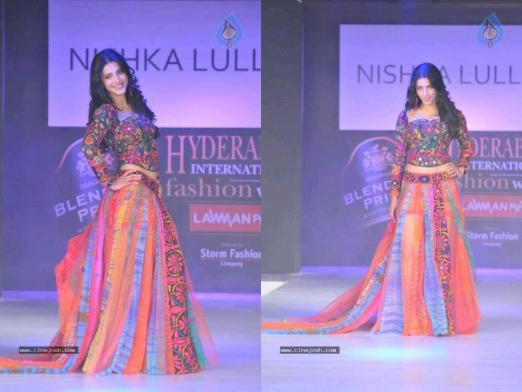 Shruthi @ Blenders Pride Hyderabad International Fashion Week