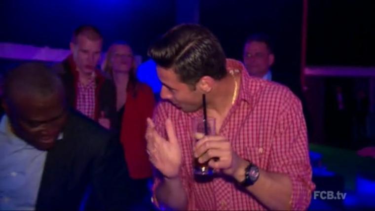 Holger et une inconnue pendat la soirée du Bayern (10/11.05.2014)