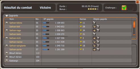 Team lvl 60, Xp, Drop