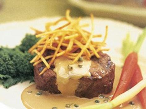 Steak au poivre vert
