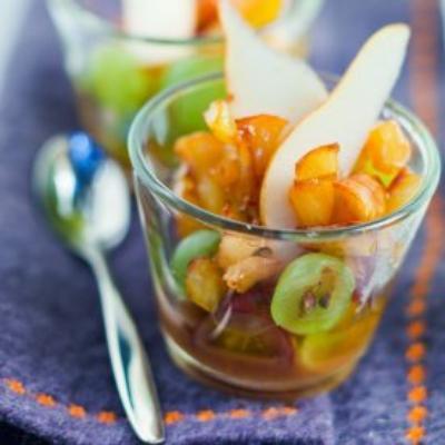 salade de fruit à la crème de marron