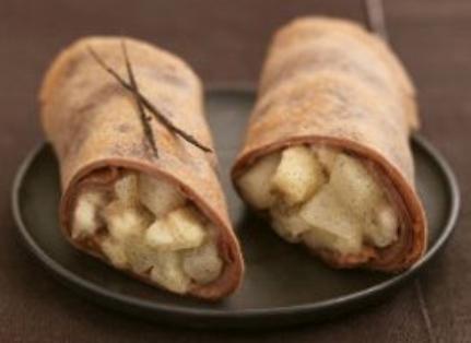 Crêpes au chocolat bananes et poires