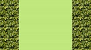 Feuilles sur vert.