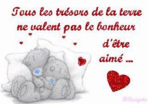 tous les trésors de la terre ne valent pas le bonheur d'être aimé ... <3