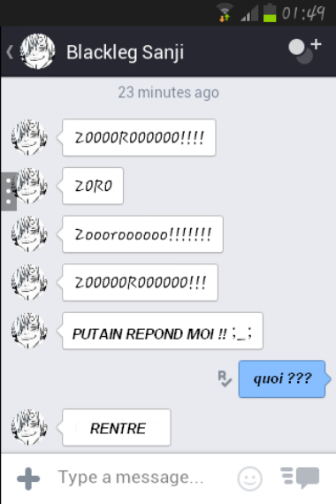 Message/Doujinshi Zosan, 1 Partie !! ♥♥