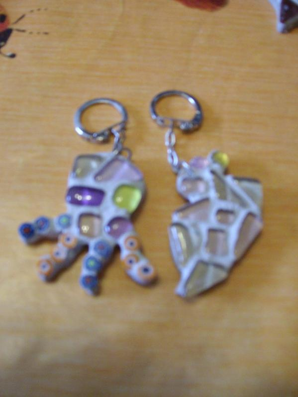 Mes portes clés passion en mosaiîque