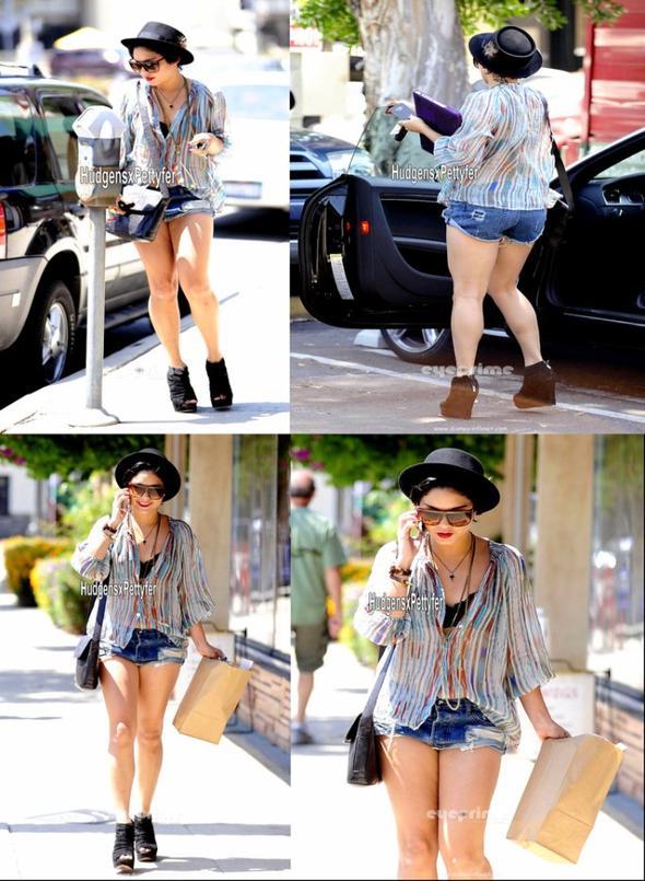 Wednesday, August 10th ; Vanessa toujours aussi jolie pour aller faire des courses dans Hollywood.