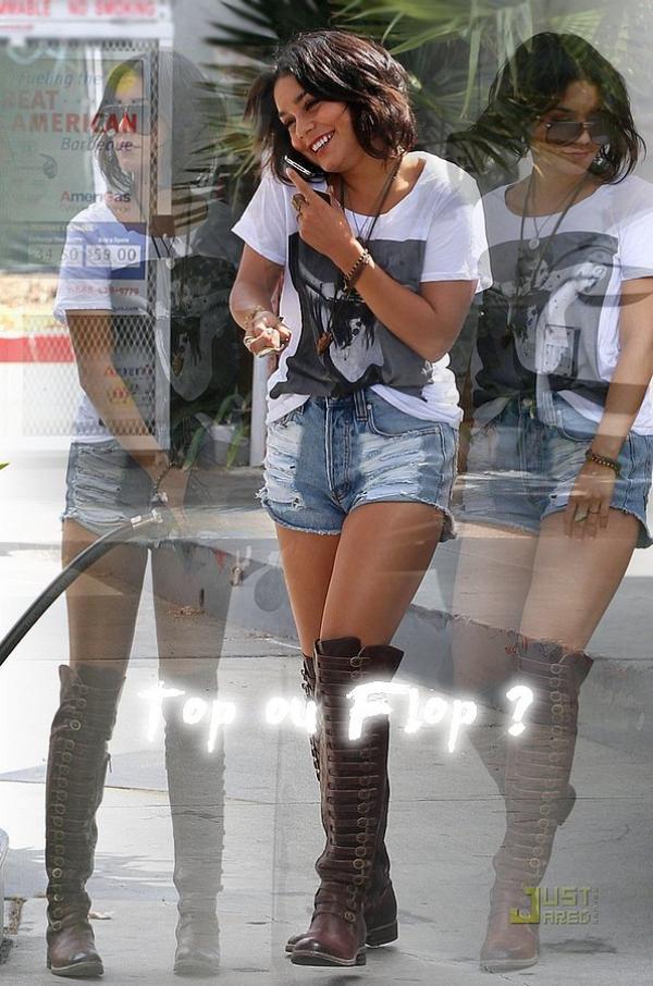 Thurday, September 22nd ; Vanessa Hudgens dans une station service à Studio City. Super TOP ! J'adhère & vous ?