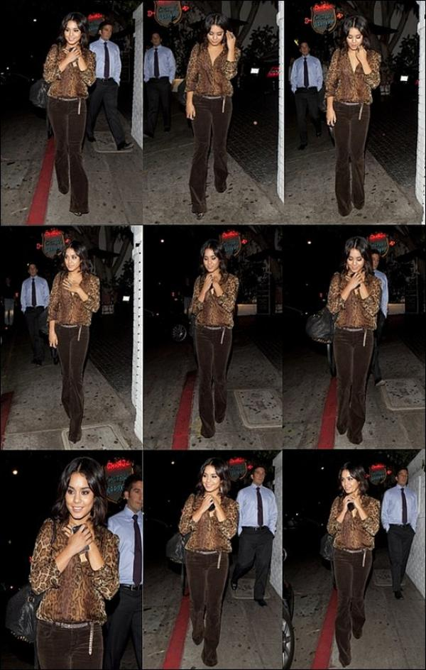* Friday, September 23th ; Vanessa quittant le Chateau Marmont à Los Angeles.*