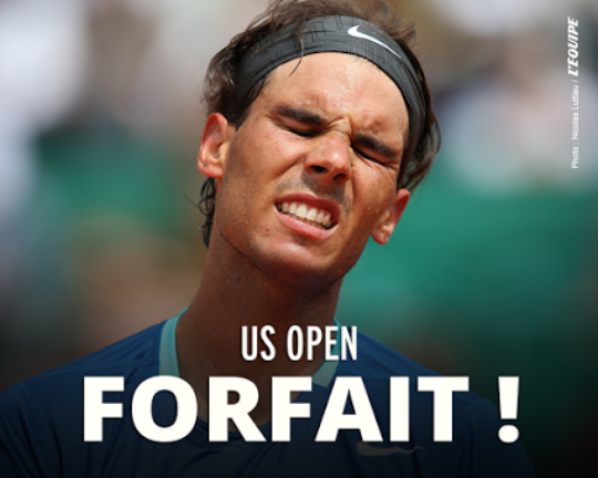 US Open: Nadal forfait !