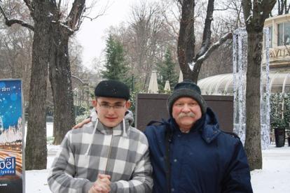michaèl et son papa