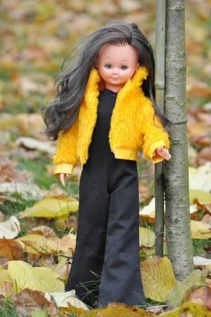 bon début de semaine avec la jolie Many de bella 1969/1970  qui pause dans le parc ou l'automne est bien la