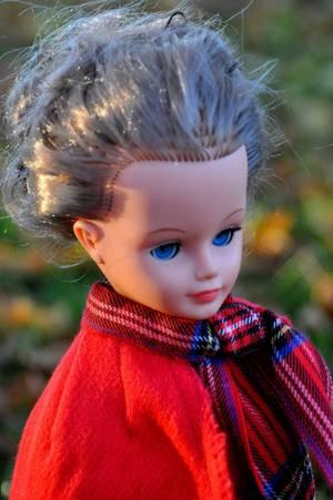 une Cathie qui emprunte la combi de son ami jerry et une jolie cape rouge inconnue que j'ai eu dans un lot lors d'un vdg elle était avec une poupée Many de Bella et une poupée Sylvie de Furga