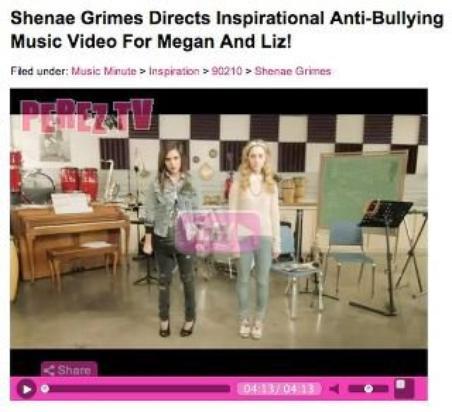 Megan & Liz sur le blog de Perez Hilton !