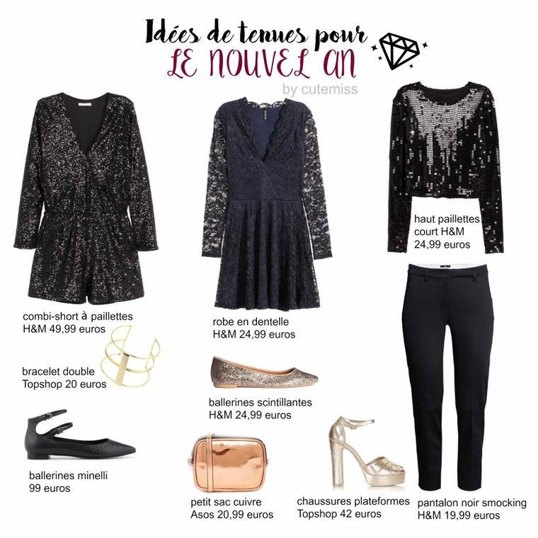 Idées de tenues pour le nouvel an 2016