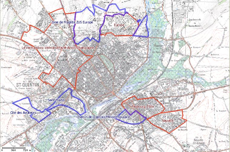 Les Quartiers sensibles de Saint-Quentin