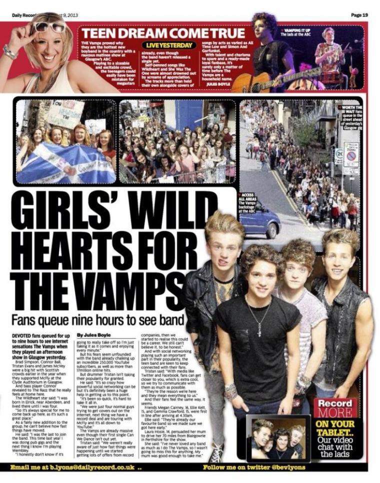 《 Daily Records 》Scotland's newspaper (09.08.13)