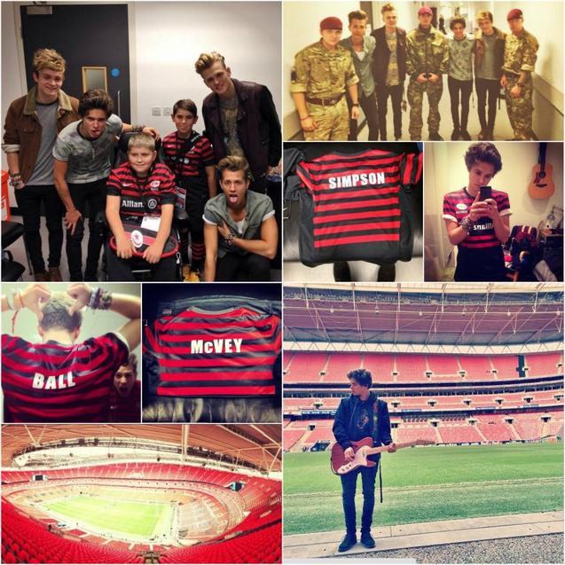 The Vamps performe pendant la mi-temps du match Saracens VS Toulouse au Wembley Stadium 18.10.13