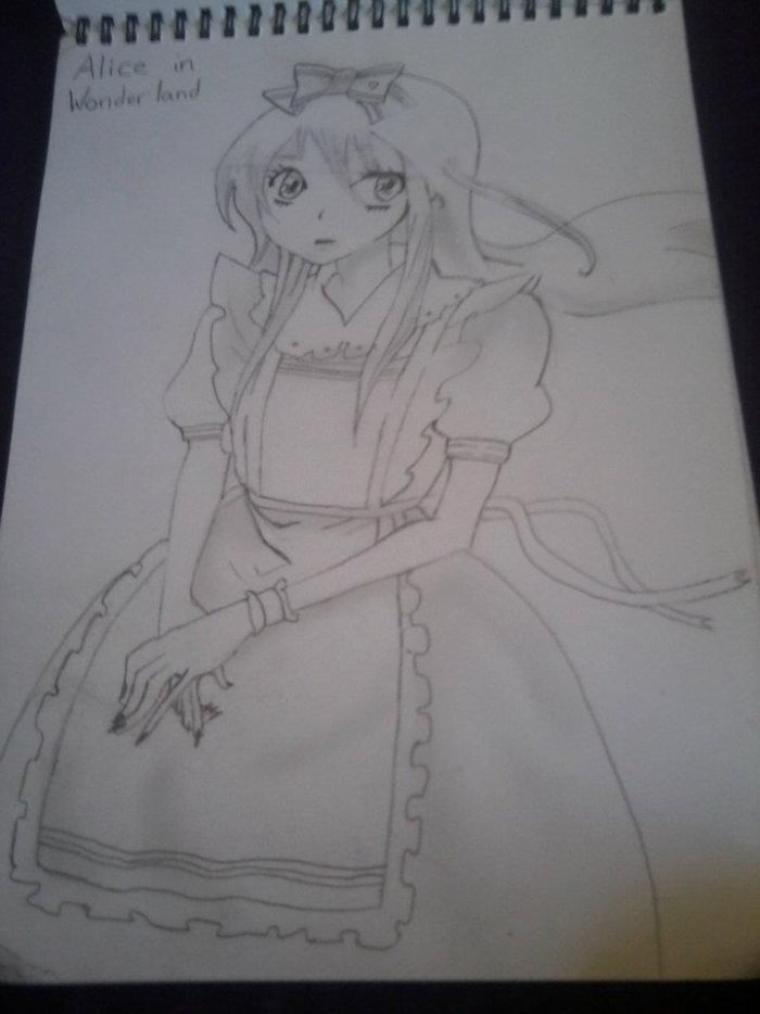 Dessin: Alice In Wonderland