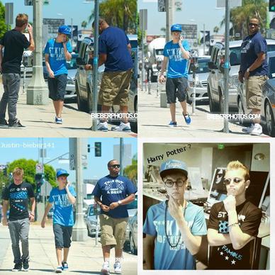 3.06 Justin  passe la journée a faire du shopping à Los Angeles avec son meilleur ami .