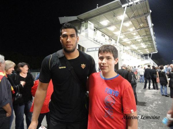 Brive / Perpignan , Top 14 , saison 2013/2014 ( parti 7 , photos avec joueurs du CAB & de Perpignan )