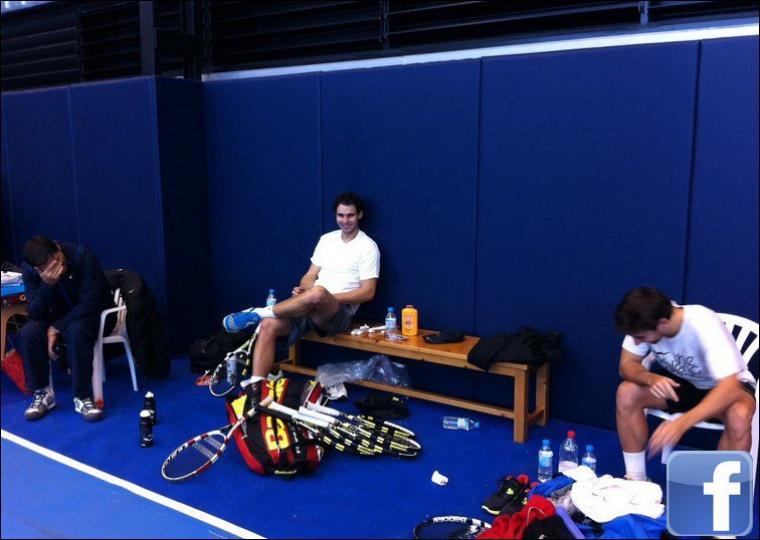"""23.12.11 : """" Toute la semaine je me suis entraîné avec Marc Lopez, nous avons passé de supers moments :)"""""""