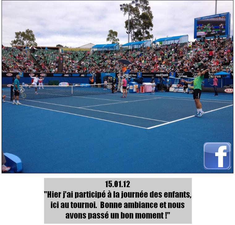 Australian Open 2012 / 03 : Entraînement et conférence