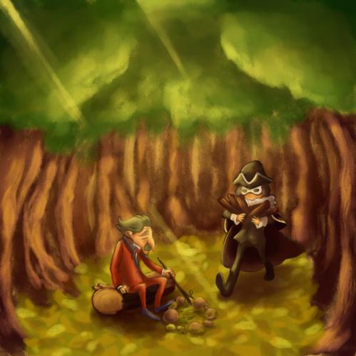 Descole coincé dans les bois. Tralala.