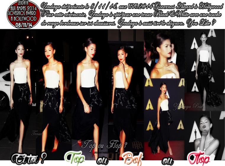 Zendaya Coleman ○○ AMPAS 2014 Governors Awards à Hollywood (08/11)