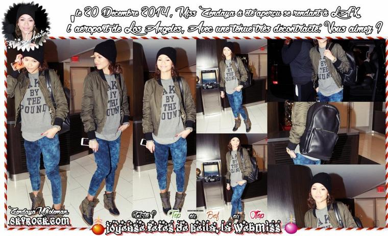Zendaya Coleman - At LAX + The Official Trailer of K.C Undercover