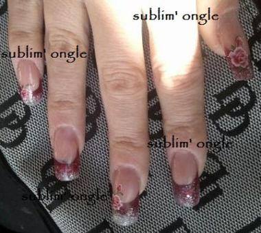 Pose sublim' ongle .