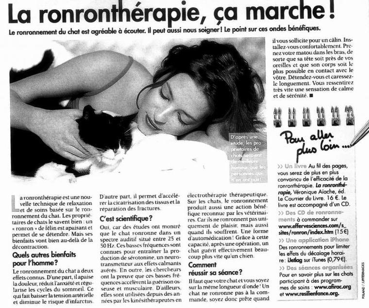 Les bienfaits de la RonronThérapie...